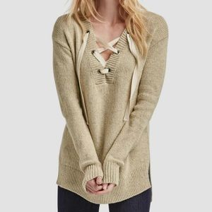 Gap Lace-up long sleeve sweater - NWT